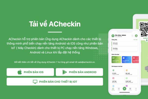 Hướng dẫn cách tải app chấm công ACheckin cho iOS và Android 1