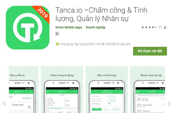 Tổng hợp các app chấm công miễn phí cho tập đoàn lớn tốt nhất 5